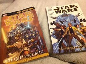 Star Wars. 2 Graphic novels and 2 paperback novels in excellent condition