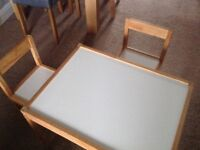 IKEA children's table with two chairs