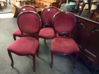 Set of 4 vintage French style chairs