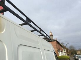 For sale a Vauxhall Movano full rhino roof rack with back roller