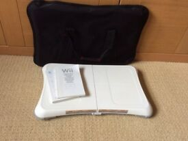 wii fit board, carry bag, manual and work out game