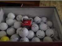 Approximately 46 used golf balls