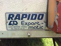 Vintage Rapido Exportmatic folding caravan
