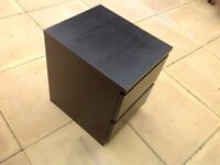 Black small chest of drawers