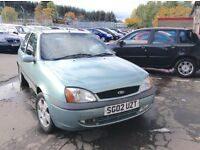 2002 Ford Fiesta 1.2 Zetec mot until end of April 17 cheap runabout
