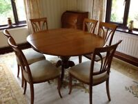 Selva Milan Cherry dining table and 6 chairs