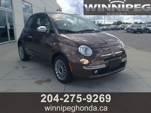 2013 Fiat 500 lounge. Local Manitoba trade, low kilometers, Spo