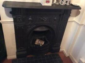 Cast iron fire palce