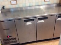 Williams 3 fridge commercial unit in brushed stainless steel