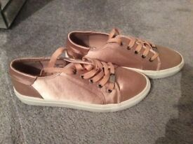 Rose gold Faith trainers Size 6