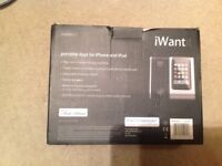 iWant Portable Dock for iPhone & iPod.