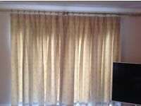 REDUCED IN PRICE - handmade lined living room curtains (2 sets )
