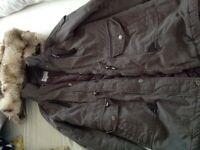 Kaki ladies Parker coat