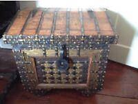 Antique wooden trunk/box