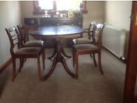 Dining room table and chairs,