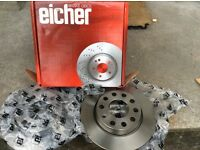 Audi A4 1.9 tdi 52 plate rear brake discs 255mm diameter may fit other years models please check