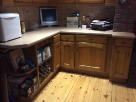 Used Oak Kitchen units and worktops