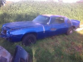 1976 Chevrolet Camaro restoration project