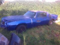 1976 Chevrolet Camaro restoration project