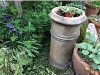 Chimney pots and very big blue pot prices from £6 to £3o