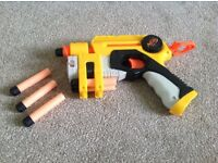 Bundle of 2 NERF foam dart guns and 1 Buzzbee foam dart gun