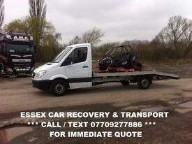 ESSEX CAR RECOVERY SERVICE , BREAKDOWN AND VEHICLE TRANSPORTATION