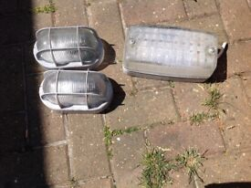 For sale three outside wall lights
