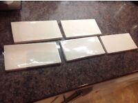 72 Metro Brickwork tiles - Ivory - 150 x 75 mm - NEW - £15 (tile flair)