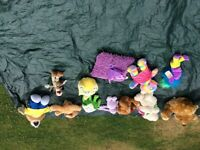 Box of children's cuddly toys