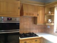 Built in double gas oven and hob
