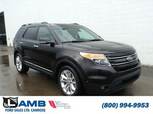 2014 Ford Explorer 4WD Limited 302A MyFord touch Navigaiton Moon