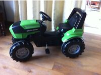 Kids pedal tractor