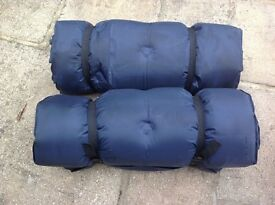 Inflatable bed mats