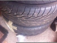 2 x 245 45 18 tyres Vredstein and dunlop almost new .no repairs