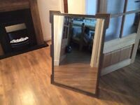 Steel surround desinger mirror