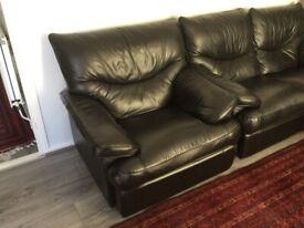 Leather Reclining Sofa Full Set