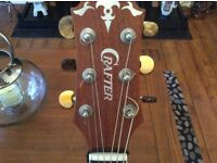 Crafter left handed semi acoustic guitar