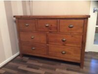 SOLID OAK CHESTS OF DRAWERS