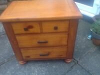 2 sets wooden drawers. Brought from Dreams . Very good cdtn. Backs are mdf.