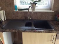 Astracast 'Rok' 1.5 bowl kitchen sink and Franke single lever tap