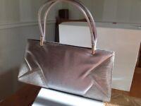 Saatchi shoes & matching handbag in silver