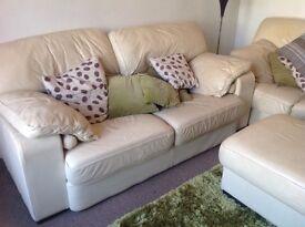 Leather Italian design sofa, 3 seater