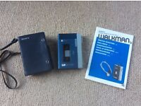 Sony Walkman stereo cassette player TPS-L2 with case and booklet