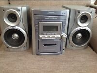 5 CD multichanger Midi Hi-Fi in silver