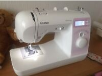Brother sewing machine and overlocker
