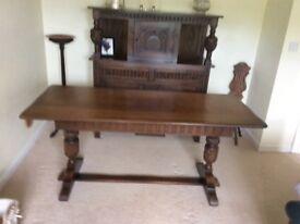 Refectory table, oak
