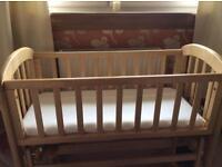 Baby crib - John Lewis 'Anna' glider crib, immaculate condition