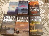 Peter James - 6 x paperback