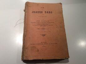 Antique book La Vie de Jeanne Darc (life of Joan of Arc)