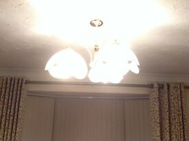 2 ceiling and 2 matching wall lights
